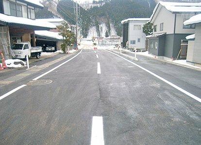 栃木六本杉線の道路改良工事